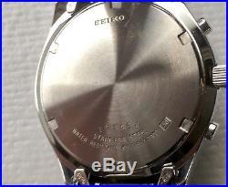 Vintage Seiko Chronograph Panda V657-7100 Quartz Watch Parts or Repair