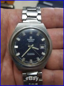 Vintage Tissot Seastar Automatic Swiss made Watch for parts or repair 70's
