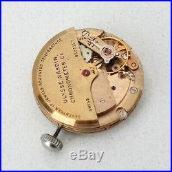 Vintage Ulysse Nardin Automatic Chronometer Movement Parts Repairs Spares