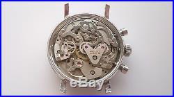 Vintage Wakmann Valjoux 7733 Chronograph For Parts Or Repair