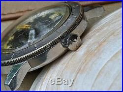 Vintage Zodiac Sea Wolf Diver withExotic Dial, Signed Crown FOR PARTS/REPAIR