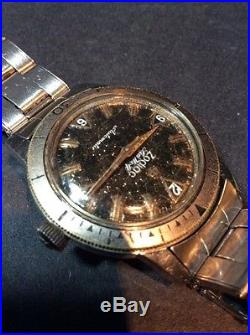 Vintage Zodiac Sea Wolf Watch Wristwatch PARTS OR REPAIR Automatic