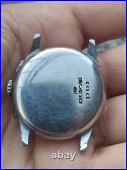 Vintage men's Batel hand-winding chronograph watch Landeron 34 mm repair parts