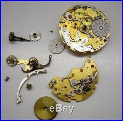 Vintage wakmann Chronograph Valjoux 72c 730 Partial Movement Parts Repairs