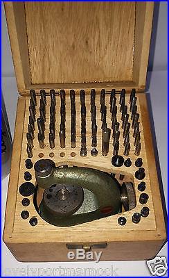 Vintage watchmaker repair tool jeweller Swiss FAVORITE lathe