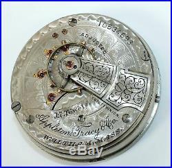 WALTHAM 18 size 17j APPLETON-TRACY POCKET WATCH MOVEMENT! PARTS/REPAIR AD187