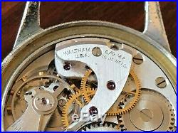 WWII US Army Waltham A-11 Military Wrist Watch 16 Jewels Parts or Repair
