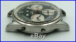 Wakmann Incabloc Watch Chrono 17-Jewels Stainless Steel Day Date Parts or Repair