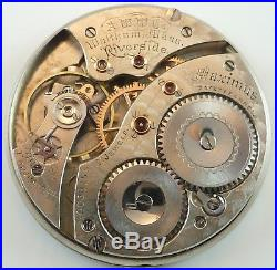 Waltham Riverside Maximus Complete Pocket Watch Movement Spare Parts / Repair
