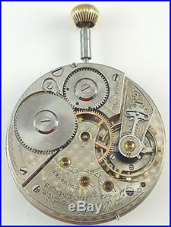 Waltham Riverside Pocket Watch Movement Spare Parts / Repair