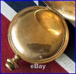 Waltham Vanguard Railroad Pocket Watch 18 size 21 Jewels GF case Parts-Repair