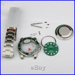 Watch repair parts for green submariner watch case kit FIT 2836 movement 116610
