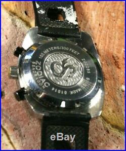 Zodiac Seadragon Chronograph ZO2285 -Runs- being sold as Parts or Repairs ref. #1